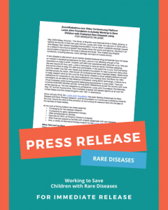 Press Release NKH Fundraiser Rare Diseases
